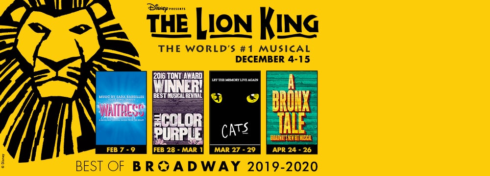 Best Of Broadway 2020 Best of Broadway 2019 2020 Season | North Charleston Coliseum
