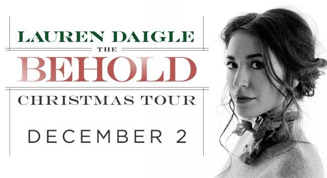Lauren Daigle The Behold Christmas Tour North Charleston Coliseum